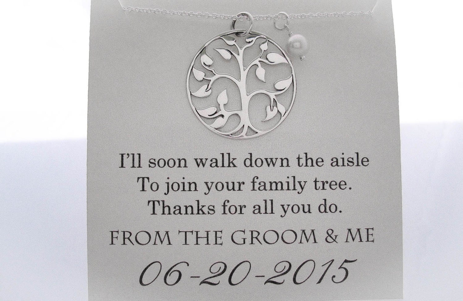 Mother of The Groom Necklace Mother of the Groom Gifts
