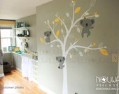 Baby Wall Decal - Animal Koala Bear Tree Wall Sticker Wallpaper- Wall Decals & Murals