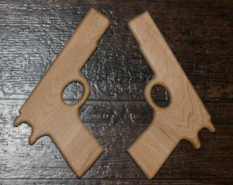 Pair of Wooden Toy Guns/Pistols Model 1911 Pistols