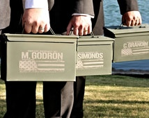 Best Man Gift - Engraved Ammo Box Personalized with Name and Title, Groomsmen Gifts, Wedding Officiant Gift
