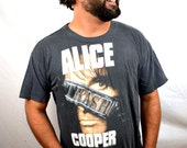 Vintage Alice Cooper Trashed Tour 1989 1990 Rock Tour Tee Shirt