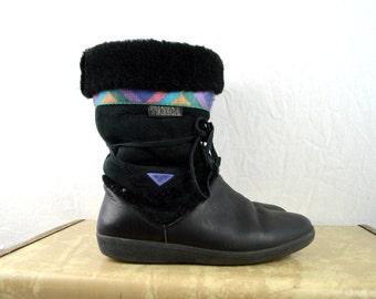 RAD Vintage Women Furry Tecnica Snow Boots - ~Size 9 1/2