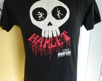 Hamlet Muscial 1980s soft and thin vintage tee shirt - black size large