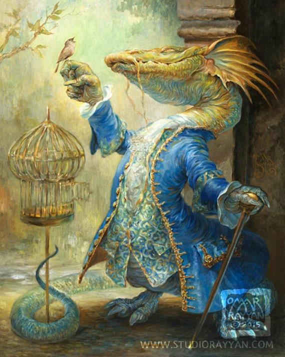 Dragon and the Nightingale (print)