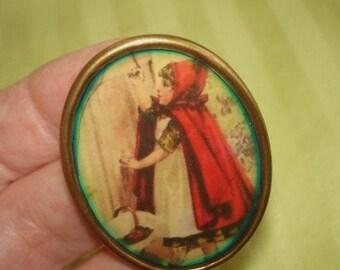 Red Riding Hood Brooch KL Design
