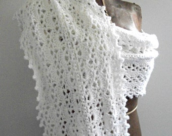 Bridal White Wrap, Crocheted, Women/Ladies by AngelAndFairyDesigns on Etsy.com