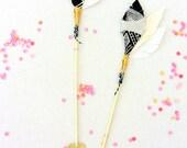 Decorative arrow pair, escort card, nursery decor, wedding decor, black and white, boho