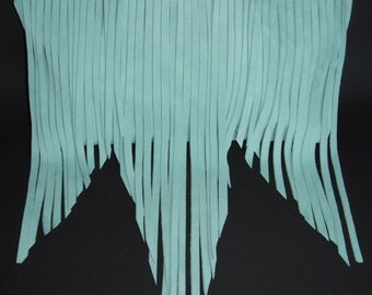 Bohemian Fringe Suede Bag in Mint on Sale (only 3 left)