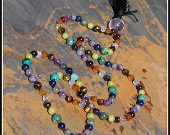 Chakra Mala, Rainbow Mala, Chakra Prayer Beads, Rainbow Prayer Beads