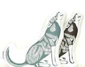 wolf pillow, wolf plush, animal pillow, wolf plushie, howling wolf, animal cushion, animal pillows