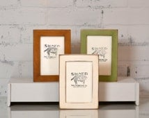 4x6 Picture Frame in 1x1 Flat Style and in Finish Color OF YOUR CHOICE - Rustic 4x6 Photo Frame - Gallery Frames 4 x 6 inch