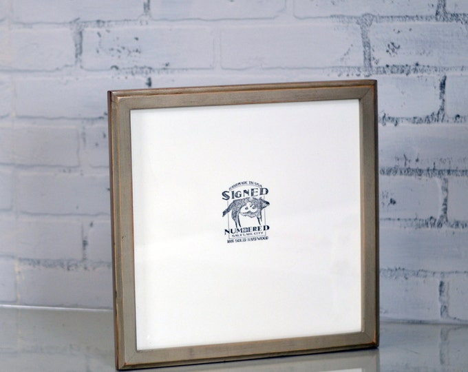 "12.5x12.5 Record LP Frame in 1x1 Outside Cove Style and Color of Your CHOICE - Wooden Album Cover Frame - 12"" Vinyl Record Frame Square"