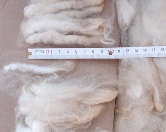 Huacaya Alpaca fiber blanket natural color white for spinning and felt
