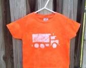 Kids Truck Shirt (3T), Dump Truck Shirt, Boys Truck Shirt, Girls Truck Shirt, Kids Dump Truck Shirt, Orange Construction Truck Shirt