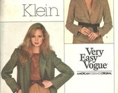 Très facile Vogue 2062 / Vintage Designer couture motif Calvin Klein / Blazer veste / taille 8