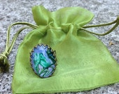 Fairy Ring - Faerie Charm Ring - Faerie Art Ring - Blue Bell Faerie