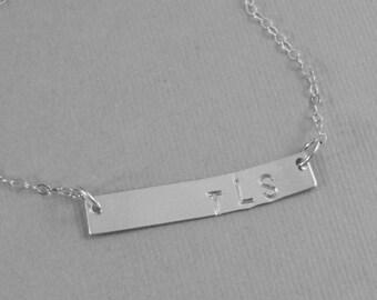 Be Yourself,Bar,Bar Necklace,Minimalist Neckalce,Initials,Personalized Necklace,Monogram Neckalce,Mommy Necklace