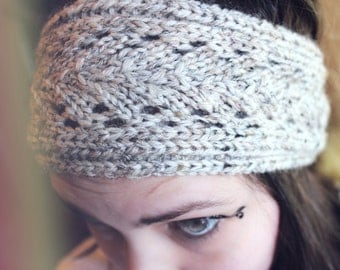 Lace Knit Headband - wool - ear warmer