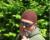 Mens Cotton Cooling Cap™ Crocheted in Chocolate Brown