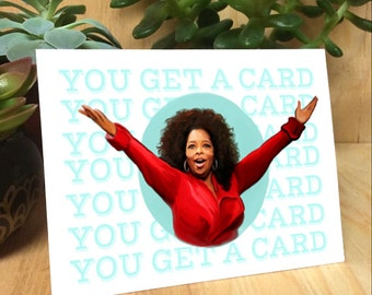 Oprah painting Greeting Card - birthday, special occasion blank card
