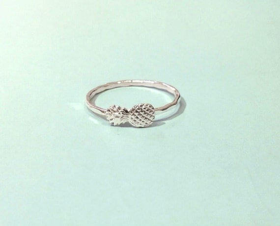 pineapple ring sterling silver pineapple ring by