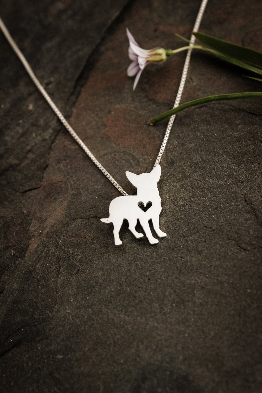 chihuahua necklace sterling silver necklace by justplainsimple