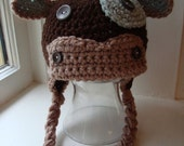 Cow Hat, Newborn Photo Prop, Boys Cow Hat, Baby Cow Hat, Crochet Animal Hat, Cow Crochet Hat, Farm Animal Hat, Newborn Cow Hat