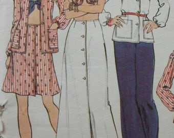 Vintage 1970's Dress Making Pattern Butterick 3683