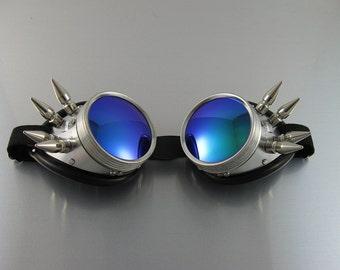Burning Man 8 Spike Goggle Sunglasses Green/Turquoise