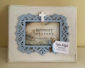 Personalized Baptism Frame Gift, Personalized First Holy Communion Frame Gift, Christening Frame Gift, Personalized Name Frame, Wood Cross