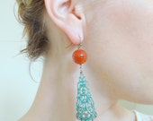 Enchanted Pumpkin: Carnelian and filigree accent