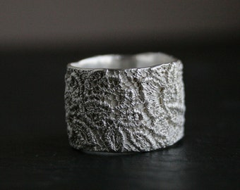 Lacey no 24 - sterling silver lace ring -  made to order in your size