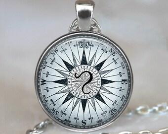 Compass Leo necklace, Leo Zodiac pendant Leo jewelry Leo jewellery Leo pendant Leo keychain key chain astrology
