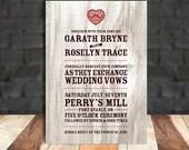 DIY Printable Wedding Invitation - Barnboard Bliss