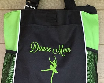 Personalized Paneled Tote Bag - Embroidered Just For You!  Great for teachers, crafters, group/club leaders, bridal parties!