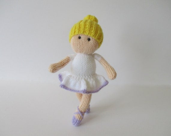 Knitting Pattern Ballerina Doll : Bella the Ballerina toy doll knitting patterns