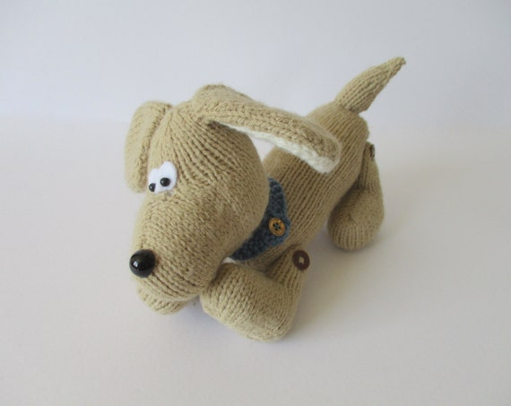 Knitting Pattern Dog Toy : Biscuit the Dog toy knitting pattern by fluffandfuzz on Etsy