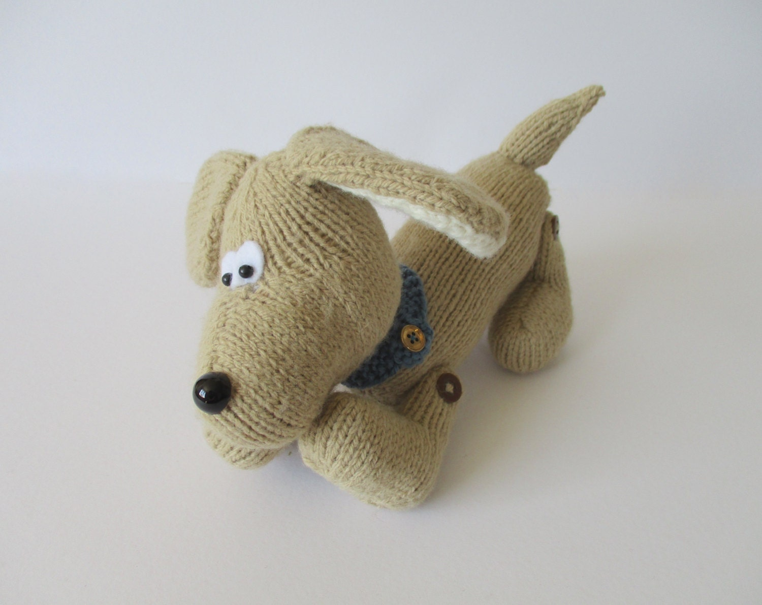 Knitting Patterns For Dogs Toys : Biscuit the Dog toy knitting pattern by fluffandfuzz on Etsy