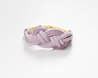 Light Purple Knot Bracelet / Sailor Knot Bracelet / Suede Cord / Nautical Jewelry / Jewelry Under 50 / Gifts For Her / Bridesmaids Gift