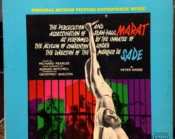 Assassination of Jean-Paul Marat as performed by the inmates of the asylum under the direction of the Marquis de Sade soundtrack from 1967