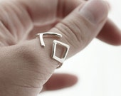 Tribal Arrow Ring - Sterling Silver - Made to Order
