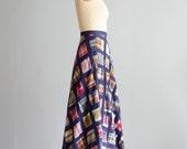 Vintage 1970s Patchwork Skirt - 70s Maxi Skirt - Wellfleet Maxi Skirt
