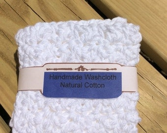 Natural Cotton Oversized Washcloths