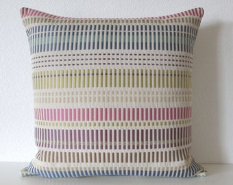 Colorful stripe purple pink blue decorative pillow cover