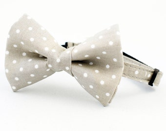 Cat Bow Tie Collar Grey Dot
