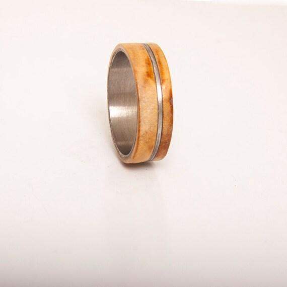 Titanium Ring titanium wedding band titanium wood ring titanium ...