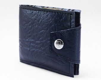 Midnight Blue Cadillac Wallet- Made 40 Year Old Vintage Auto Vinyl