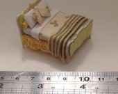 Dolls House Miniatures - Hand Painted Pretty 1/48th (1/4inch bed) - NEW SPRING 2015