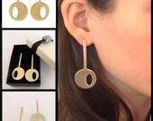 Skeleton Key Earrings, 14K Gold Plating Stud Keys Earring, Lock Key Jewelry