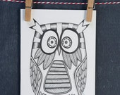 Original Owl Illustration